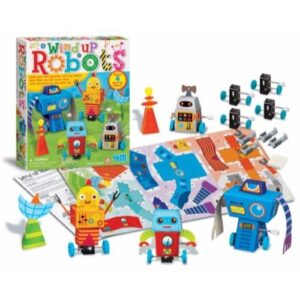 4M-WIND-UP-ROBOTS juguete didactico