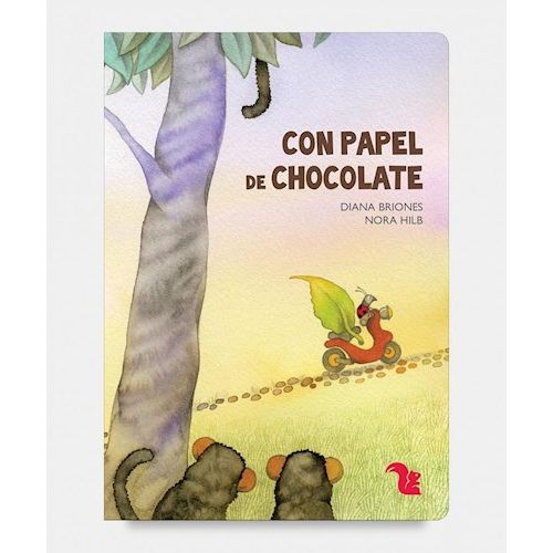 libro con papel de chocolate