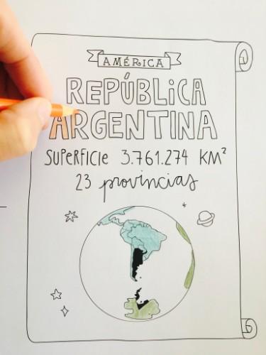 mural republica argentina para pintar