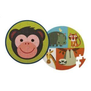 Rompecabezas-Doble-Faz-Mono-y-Amigos-juguetes-didacticos