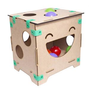 banquito pelotero diseno ikitoi juguete didactico