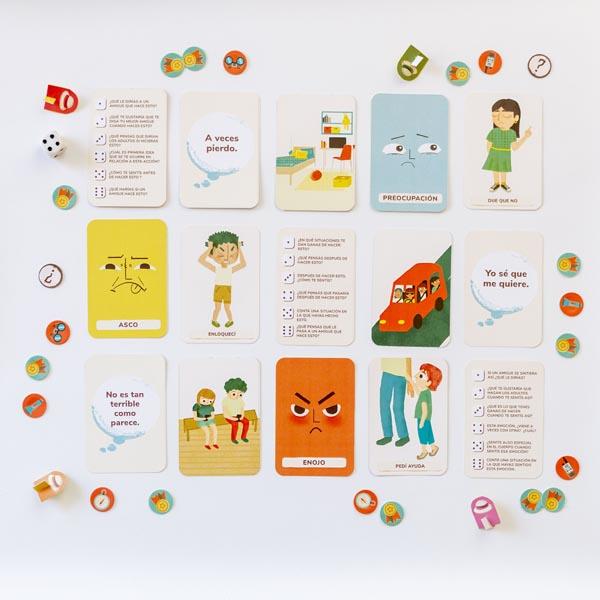 cartas del juego de emociones
