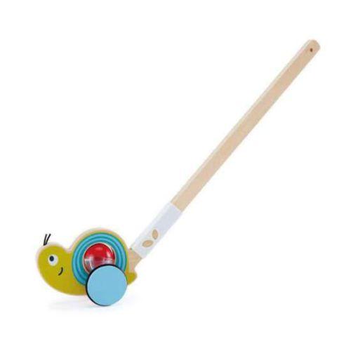hape-empuje-caracol juguete didactico