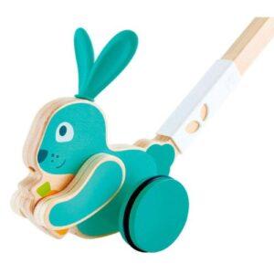 juego de empuje de conejo hape