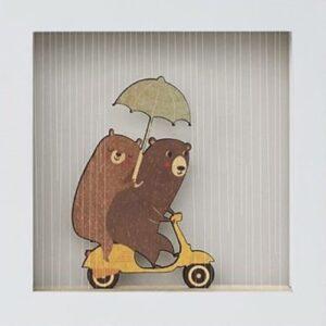 ositos-woodalooo cuadro decorativo