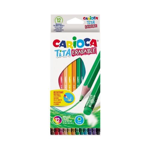 lapices de colores carioca tita-erasable