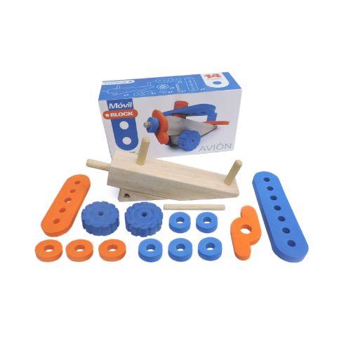 Avion-madera-y-goma-eva-juguetes-didacticos