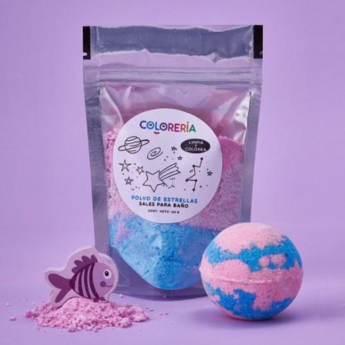 Coleria-polvo-para-estrellas-rosa-y-celeste agua de bano