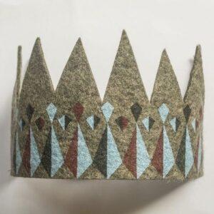 Corona de fieltro - juguete didactico