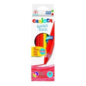 Lápiz Carioca Maxi hexagonal x 6