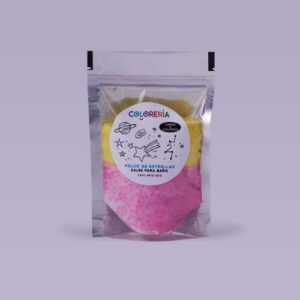 Polvo-de-estrellas-amarillo-y-rosa-para-agua de bano