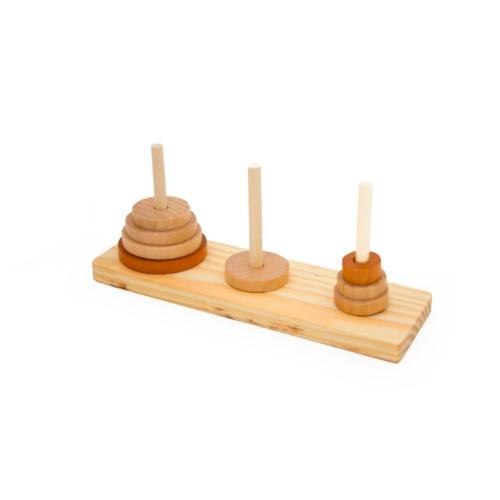 TORRE-DE-HANOI-madera juguete didactico