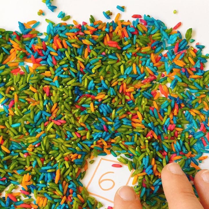 actividades para ninos arroz de colores 1