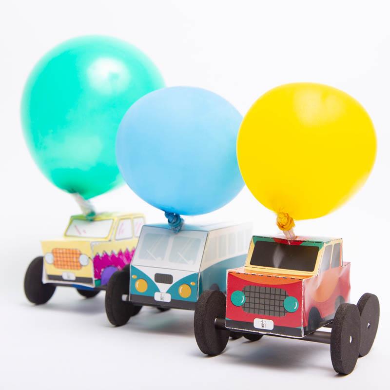 actividades para ninos auto globo