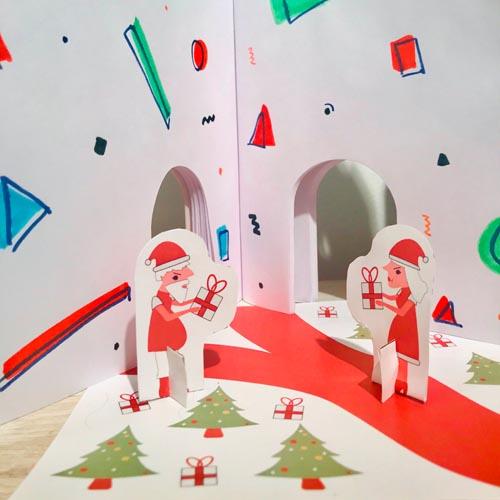 actividades para ninos personajes y pisos navideno