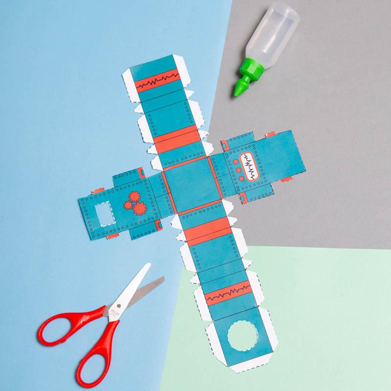 actividades para ninos robot de papel 1