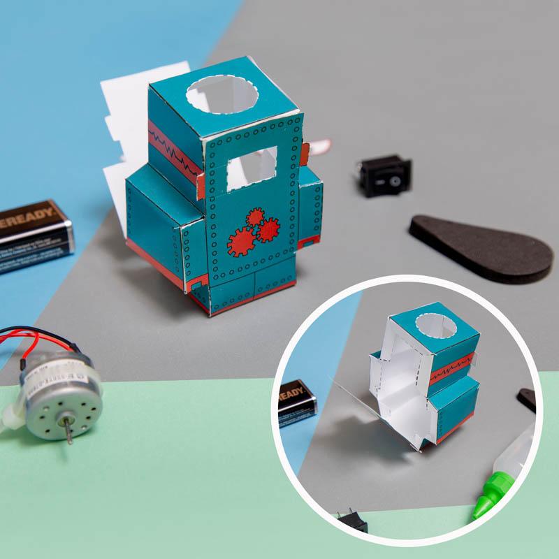 actividades para ninos robot de papel 5