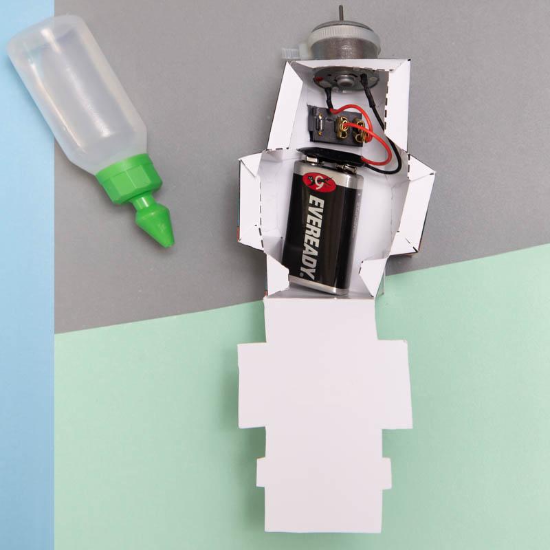 actividades para ninos robot de papel 7
