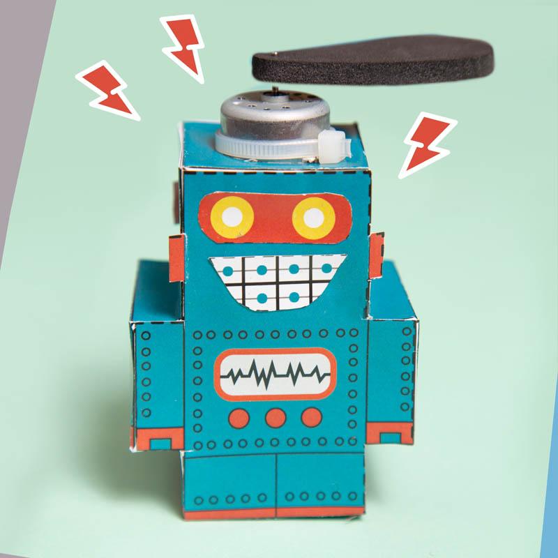 actividades para ninos robot de papel 8