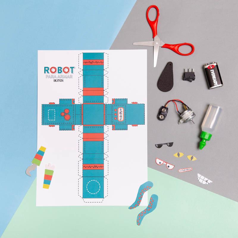 actividades para ninos robot de papel