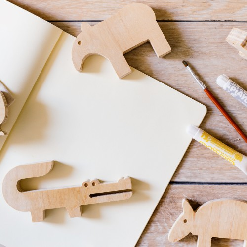 animales de madera para jugar