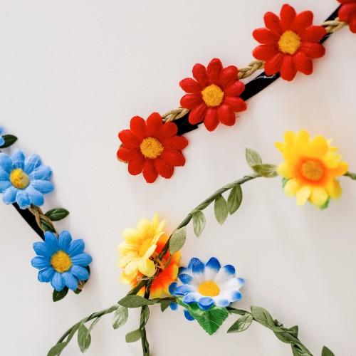 corona de flores colores