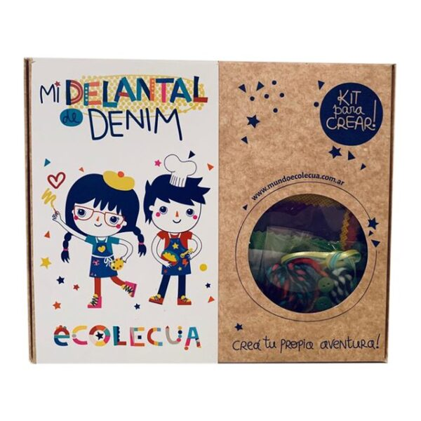 ecolecua delantal denim 4 a 6 anos