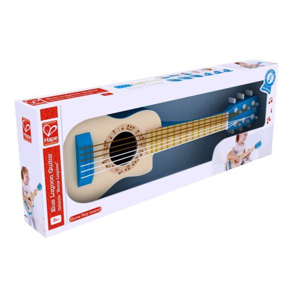 guitarra blue lagoon hape 3 anos