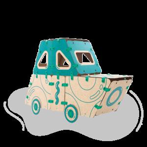jugueteria online kit creatividad ikitoi 9 en 1 para armar - auto
