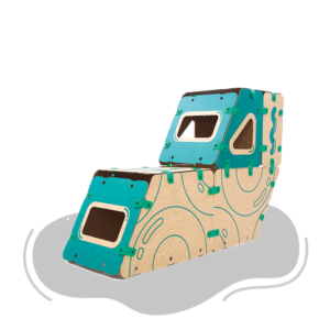 jugueteria online kit creatividad ikitoi 9 en 1 para armar - tren
