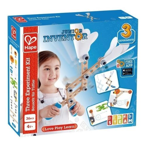 kit de 3 expermientos hape juguetes para 4 anos