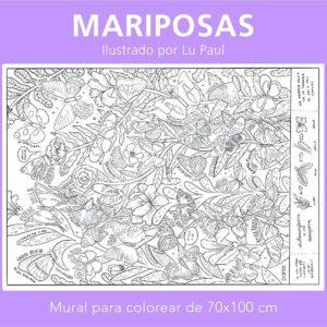 Mural panie mariposas-3anos