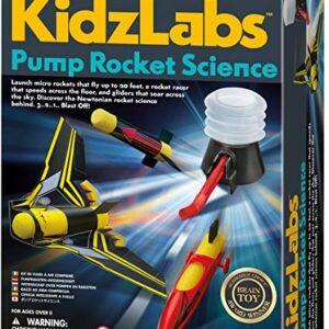 pump rocket 4m 8 anos juguete didactico