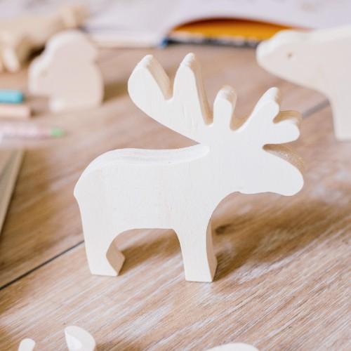 reno de madera juguete para ninos