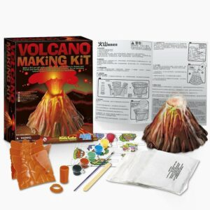 volcano making kit 4m 8 anos juguete didactico