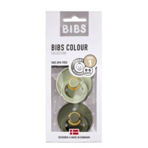 Chupete BIBS - Verde grisáseo & Verde oscuro