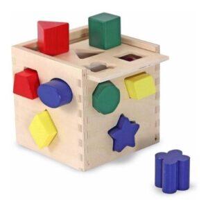 Cubo de encastres geometricos - juguetes didacticos