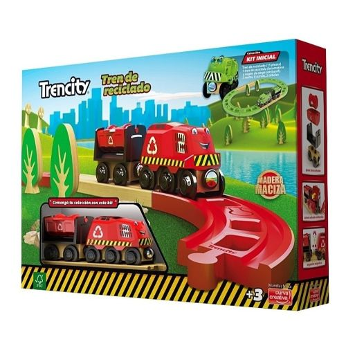Kit inicial rojo Trencity - juguete didactico