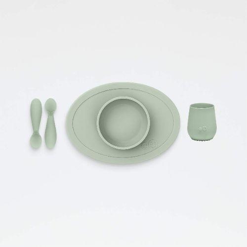 Primer set de comida - Verde grisáseo