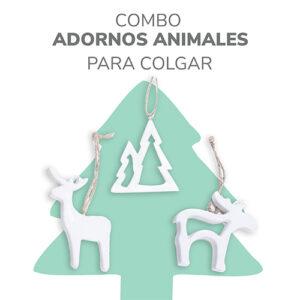 adornos animales de navidad para colgar