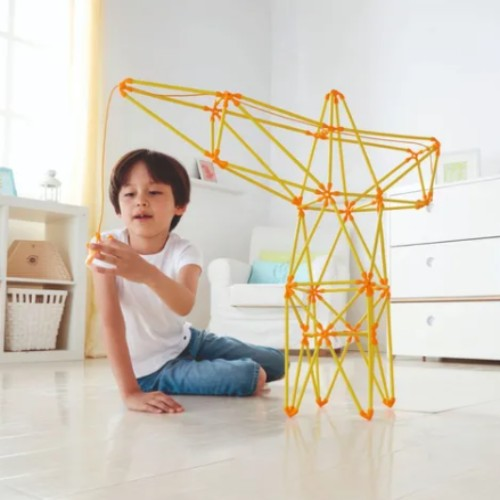 grua hape juego para armar juguete didactico