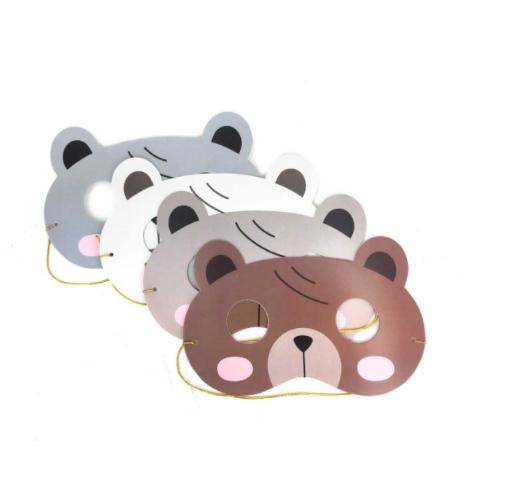 mascara de oso para ninos