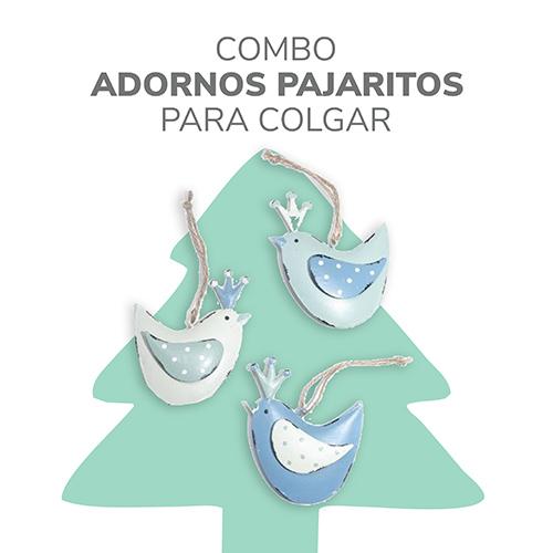 pajaritos adornos para colgar en navidad