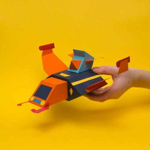 papercraft imaginacion extraña juguete didactico