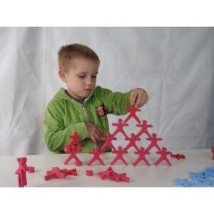 rompecabezas 3d goma eva forma acrobatas