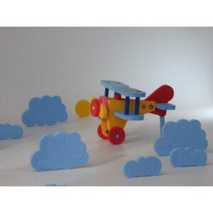 rompecabezas 3d goma eva forma avion