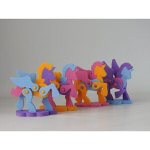 rompecabezas 3d goma eva forma unicornio