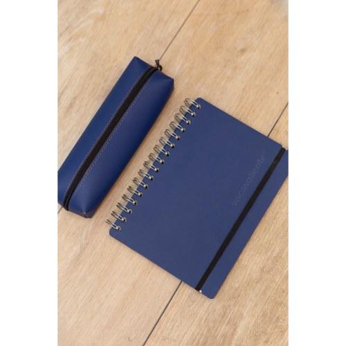 vacavaliente combo azul cuaderno y cartuchera