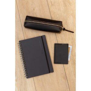vacavaliente combo de oficina negro cuaderno y cartuchera